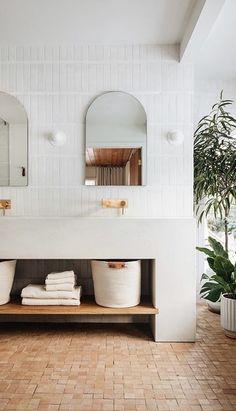 Bathroom Design Inspiration, Bathroom Interior Design, Home Decor Inspiration, Bathroom Renos, Laundry In Bathroom, Earthy Bathroom, Upstairs Bathrooms, Beautiful Bathrooms, Interiores Design