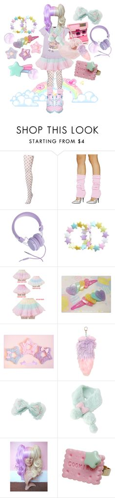 """☆.*:.fairy kei.:*.☆"" by tibtab ❤ liked on Polyvore featuring Miss Selfridge, Urbanears, Bodyline, pastel shoes, bodyline, japanese street fashion, pastels, fairy kei and spank"