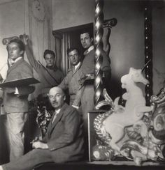Rex Whistler, Lord Berners, Oliver Messel and Cecil Beaton, 1931. Photo by Beaton.