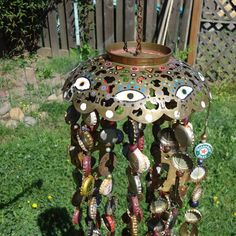 wind chimes | All Seeing Recycled Wind Chime by Chance Corbeil | White Antlers