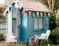 Beach hut style shed