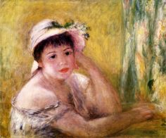 Woman with a Straw Hat - Pierre-Auguste Renoir, 1880