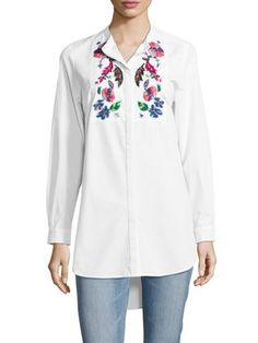 Rothko Cotton Floral Embroidery Blouse by French Connection at Gilt