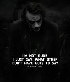 Quotes Deep Dark Indonesia 41 Ideas For 2019 Dark Quotes, New Quotes, True Quotes, Motivational Quotes, Inspirational Quotes, Joker Qoutes, Best Joker Quotes, Badass Quotes, Batman Quotes