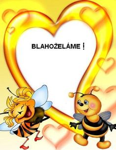 blahoželánie Crafts For Kids To Make, Diy And Crafts, School Frame, Lets Celebrate, Tigger, Disney Characters, Fictional Characters, Bee, Children