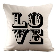 LOVE - Cushion Cover - 18x18 on Etsy, $38.52