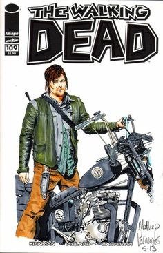 The Walking Dead 109 Blank Sketch Cover Original Art Daryl Matthew Parmenter   eBay