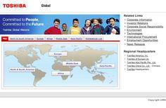 Toshiba : Global Top Page    (via http://www.toshiba.co.jp/worldwide/index.html )