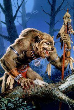 Shaman Werewolf. Destroying vampires and protecting man.