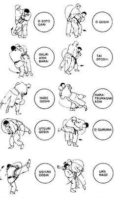 Aikido took basic Judo techniques and incorporated le. Judo Karate, Karate Kata, Shotokan Karate, Martial Arts Styles, Martial Arts Techniques, Mixed Martial Arts, Aikido Techniques, Judo Training, Strength Training