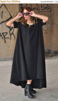 Plus Size Maxi Dress Long Dress Long Georgette Dress Black