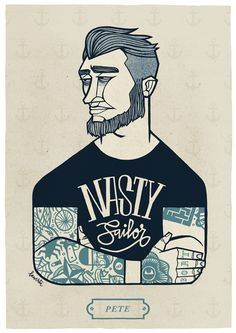 Pete - Sailor Stuff   #illustration #sailor #graphicdesign
