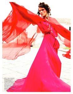 VOGUE PARIS APRIL 2013: 'INCA' Models: Isabeli Fontana and Aymeline Valade Photographer: Mario Testino Styling: Emmanuelle Alt