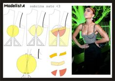 Bustier, patterns instructions
