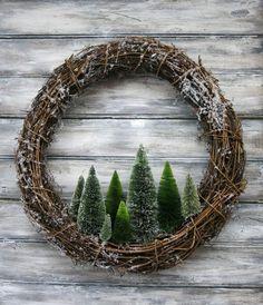 belle et simple idée de guirlande de Noël!,
