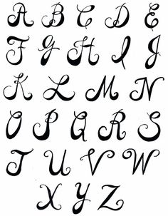creative hand lettering alphabets | Pamela's Parasols: Lettering and Fonts