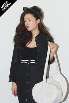 Today's Hot Pick :Black Meshed Short Jacket http://fashionstylep.com/SFSELFAA0030798/stylenandaen/out Looking for something casual to layer over your favorite top? Sport this short jacket featuring a cropped cut, enamel-shine edged sleeves, snap buttoned placket, double flap pockets in the front, snap buttoned cuffs and an overall regular fit. Wear with color matching pencil skirt to create an ensemble of your choice. Available in black. One size fits most.