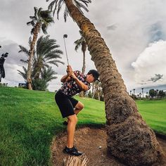 Photo of the Day! @ajvoelpel goes around the palm tree and into the cup for par at @BaliHalGC. #:@hashtagchad. Are you hitting the links this week? #GoProGolf #itsallinthehips #playitwhereitlies
