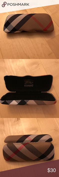 Burberry Sunglass or Glasses Case Authentic Burberry Sunglass or Glasses Case (sunglasses and/or glasses NOT included.)  Classic Burberry Check print on outside of case, soft black material with logo imprinted inside.  Not sold separately without sunglasses or glasses in store; original listed price is price for sunglasses in store. Burberry Accessories Sunglasses