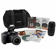Canon EOS Rebel T3i 18MP DSLR Camera with 2 Lenses, Bag & Accessories