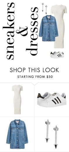 """sneakers and dress"" by kety-de-jesus on Polyvore featuring moda, Helmut Lang, adidas e Isabel Marant"