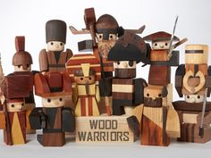 Glen Hay's time working with the likes of Kermit and Big Bird at Jim Henson Productions inspired him to create some characters of his own: Wood Warriors, his collection of handcrafted, adorably fierce toys. This first set features pirates, vikings, samurai, cowboys, and cavemen — all playfully rendered in beautiful natural wood.
