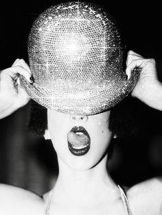 ellen von unwerth/ sparkly little hat