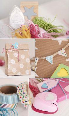 Geschenke verpacken für den Kindergeburtstag - Bastelanleitung Ideen