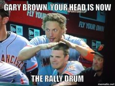 Rally Drum!  Hunter Pence, Gary Brown. I love it.