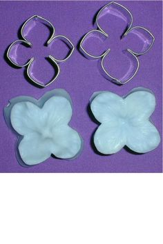 """Hydrangea Blossom Set (SV-020) by Sunflower Sugar Art. Double sided veiner and two cutters (1-1/2"""" and 1-3/4"""") $26.00"""