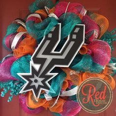 Hey, I found this really awesome Etsy listing at https://www.etsy.com/listing/192667294/san-antonio-spurs-deco-mesh-wreath