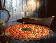 Luxury Leather Carpets From Pachamama.Decorando el centro de nuestros espacios con el elemento tierra, fortaleciendo y equilibrando el bienestar del Ser.