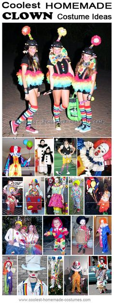 Homemade Clown Costumes Collection - Coolest Halloween Costume Contest