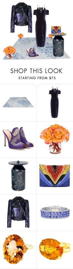 """Untitled #569"" by matan-sowatskey ❤ liked on Polyvore featuring Roland Mouret, Gianvito Rossi, The French Bee, Elena Ghisellini, Diesel, Effy Jewelry, Gemjunky and Valentin Magro"