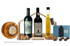 CASA 1 - #TRADITIONAL #EXCLUSIVE #Port #Sandeman #VINTAGE #1994 #Red #Wine 2007 #Pera #Manca F.E.A. Selection of #chocolates from #Casa #Grande Selection of Dry Fruits: #Almond #Douro DOP, #Pine #nuts and #Figs from Douro PDO #Serra da #Estrela #Old #Cheese #Olive #Oil from Casa Aragão