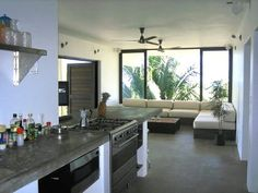 Modern Kitchen and Living Room- sayulita glbt friendly
