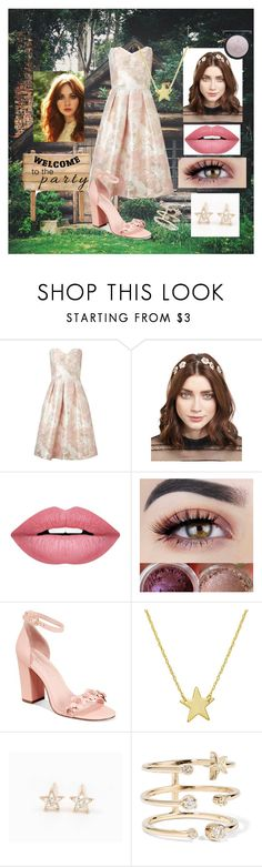 """""""Astrea's Night at the Welcome Party"""" by arisc7 ❤ liked on Polyvore featuring Miss Selfridge, Jennifer Behr, Forever 21, Avec Les Filles, Amanda Rose Collection, Diamond Star and Andrea Fohrman"""