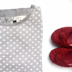 Dotted zip back cotton sweater • Loft Perfect condition! Awesome zipper detail. Smaller polka dots on quarter length sleeves. Make an offer, no trades :) don't forget to bundle and save! LOFT Sweaters Crew & Scoop Necks