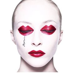 Red Lips and Red Lips for Eyes, Editorial Makeup, by photographer Rankin.