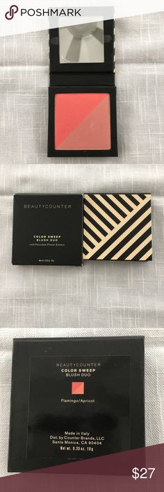 Beautycounter Color Sweep Blush Duo NIB Beautycounter Color Sweep Blush Duo in Flamingo/Apricot. Beautycounter Makeup Blush