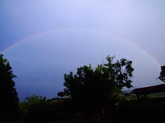 Rainbow from garden May 2010