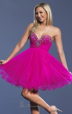 Short Tulle Dress by Dave and Johnny 6912