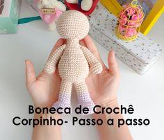 ^ Body Step by Step - Crochet Bonek Crochet Bear, Crochet Dolls, Free Crochet, Afghan Patterns, Crochet Stitches Patterns, Doll Toys, Baby Dolls, Minion Pattern, Globe Crafts