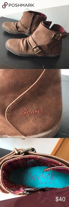 Dark brown booties Blowfish dark brown booties.  Size 10 womens.  Like new condition, worn maybe 5 times at the most.  Just have too many shoes and this pair just doesn't get worn much, needs a new home!  Perfect for spring when you want a break from tall 👢 boots! Blowfish Shoes Ankle Boots & Booties