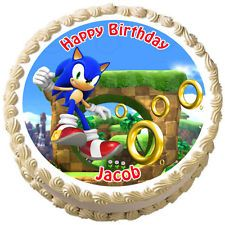 SONIC THE HEDGEHOG Birthday Edible ...