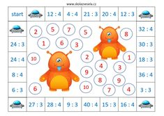 Ebook - Ufounská násobilka - Škola Zvesela Alphabet Activities, Math Class, Multiplication, Mathematics, Division, Homeschool, Folklore, Good Ideas, Math Sheets