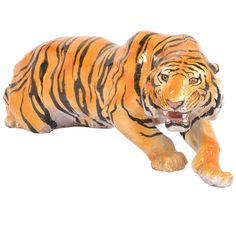 Vintage Lifesize Tiger Sculpture, OF THE PERIOD:Mid-Century Modern PLACE OF ORIGIN:France DATE OF MANUFACTURE:circa 1970s PERIOD:1970-1979