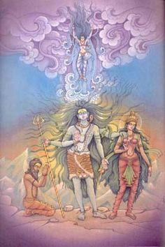 Ganga The River Goddess - Tales in Art and Mythology Arte Shiva, Shiva Hindu, Shiva Art, Shiva Shakti, Hindu Deities, Hindu Art, Krishna, Rishikesh, Indian Gods
