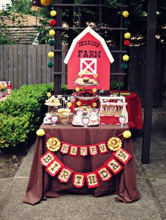 "Photo 1 of 13: Barnyard/Farm / Birthday ""Barnyard Birthday Dessert Table"" 