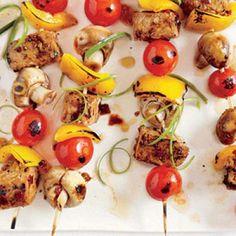 Vegan & Vegetarian Recipes: Grilled Tempeh Skewers | CookingLight.com